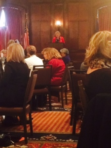 President Geri Swift at the WBEC Executive Leadership Luncheon.